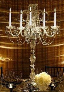 Candelabras Lighting is obtained from branched handle holders or lamps that carry multiple candles or bulbs.