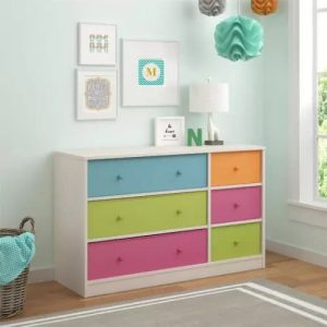 The trick for using a chest of drawers in a baby's room is to choose a design that can grow up along with your child.