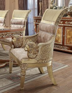 When your taste is elaborate, then the traditional dining chair is for you when choosing your perfect dining chairs The traditional, old school dining chairs include heavy ornamentation. This style chair will have elaborate rails in the back, often going vertical with a design in the middle. The legs of the chair are often curved and carvings will be found all over the wood. Traditional style chairs include chairs from Queen Anne, Regency and Chippendale eras, as well as some other traditional styles throughout time. Traditional chairs can have upholstered seats as well as wooden.
