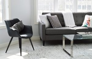 This type of furniture  makes the space feel more open. Chairs, sofas, and beds with skirts can feel boxy. But if you opt for furniture with exposed legs, it creates the illusion of extra room. Furniture that is lower to the ground will create a feeling of openness in a room simply by the fact that they leave more space above them.