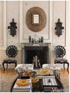 When creating an ageless look, tips to consider include symmetry. The human eye is drawn to symmetry and balance which means that no matter what happens with decorating styles, symmetrical rooms will always be pleasant to look at.