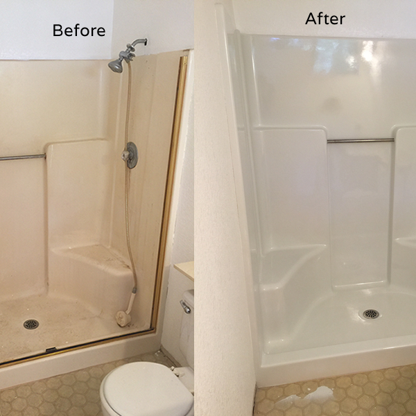 How To Paint A Shower Pan Or Fibreglass Base