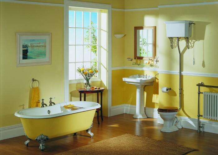 Get A New Look With Painted Bathrooms