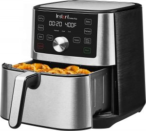 8 Top-of-the-line air fryers for 2021 Instant Vortex Plus is an enhanced version of Instant Vortex. For a bigger cooking area, use a square basket. It was occasionally necessary to use more force to press buttons. The performance of this air fryer from the makers of one of our favorite multi-cooker models wowed us. With its stainless steel façade and large, easy-to-read buttons, the Instant Vortex Plus from Instant Pot is stylish. It has six cooking modes, including air fry, roast, broil, bake, reheat, and dehydrate, as well as temperature and time settings that may be programmed. The dial enables quick selection, so you won't have to press a button 100 times to reach the desired temperature. The air fryer basket is square and huge (6 quarts), providing more frying room than circular competitors. Investing in a smart house for a family. Its removable tray has a small, hinged handle that enables easy removal while also laying flat so that the cooking area is not disrupted.