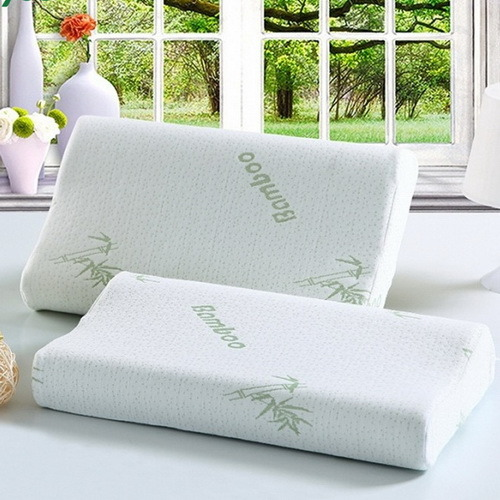 Contrast  Miracle Bamboo Pillow with Cotton Pillow.